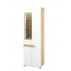 Шкаф витрина МН-026-01 (белый)