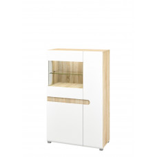 Шкаф витрина МН-026-03 (белый)
