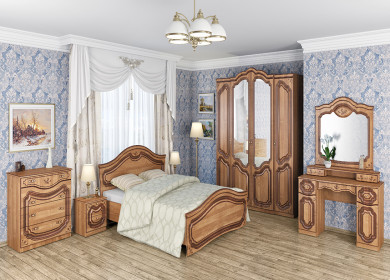 Спальня Орхидея (ольха+патина)